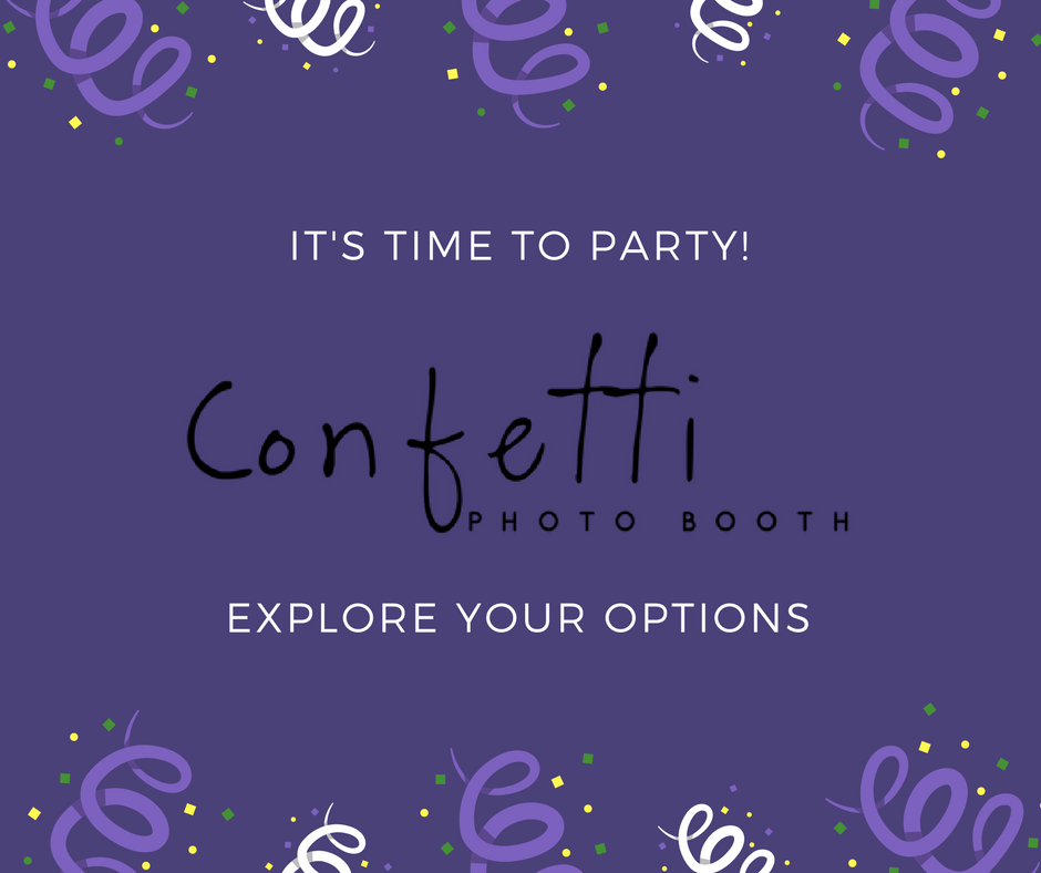 invitation to party with confetti photo booth in idaho falls